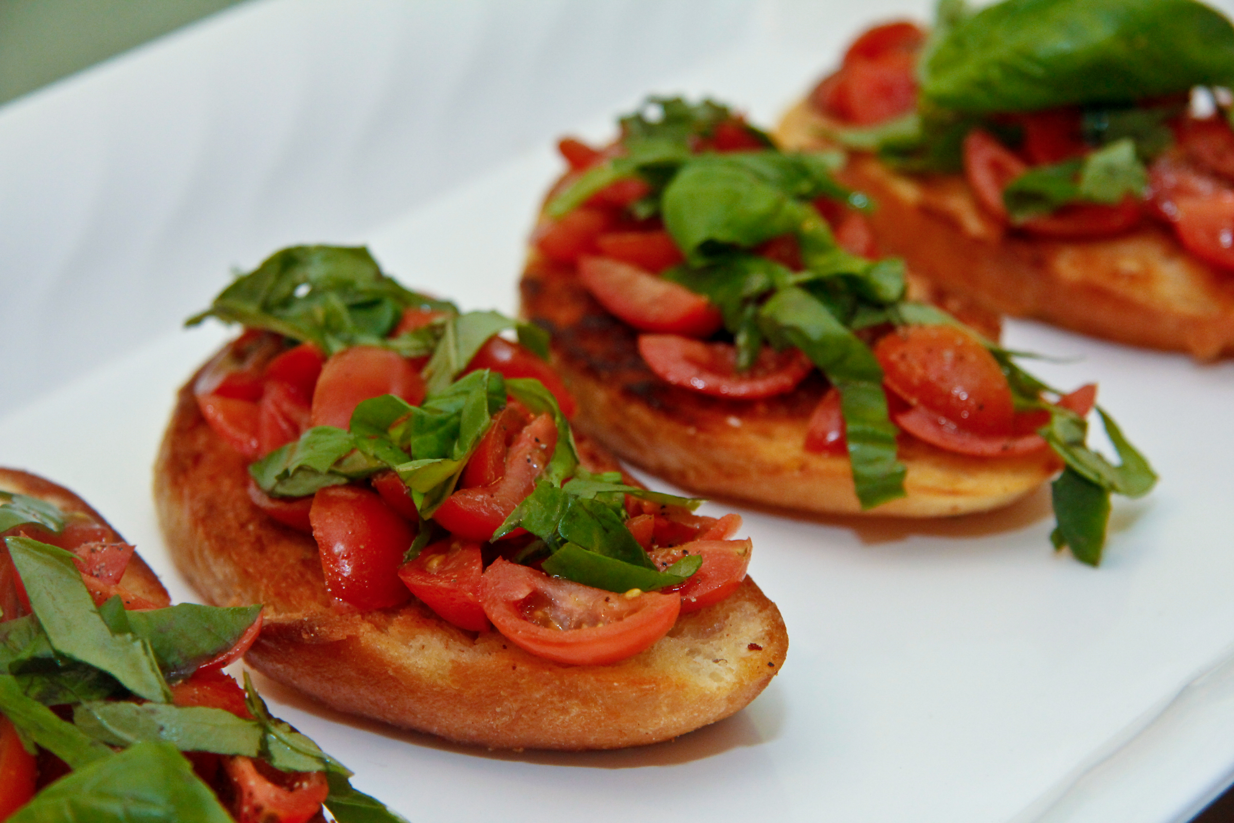Grape Tomato Bruschetta | ChefJulieYoon.com