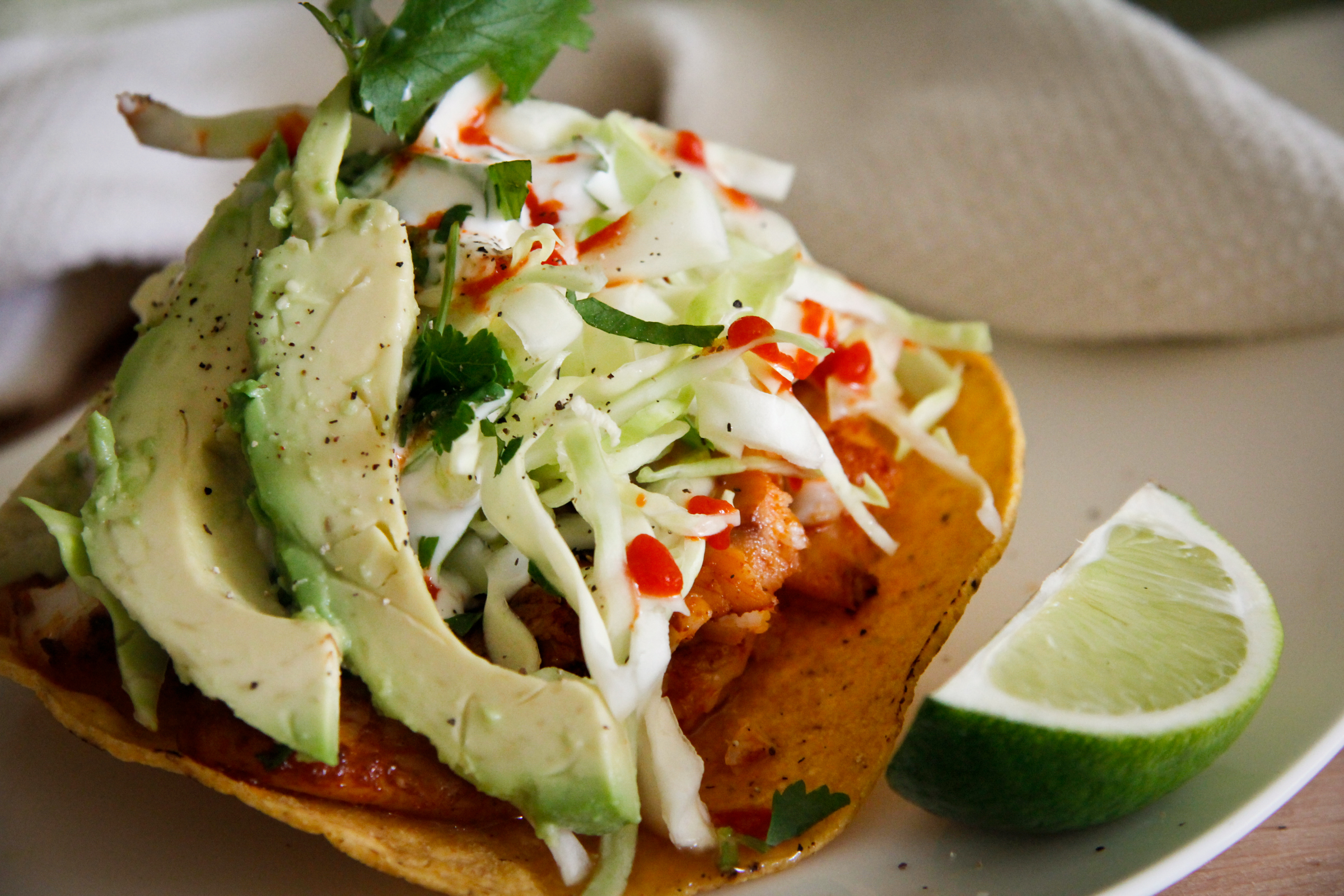 Spicy Fish Tostadas | ChefJulieYoon.com