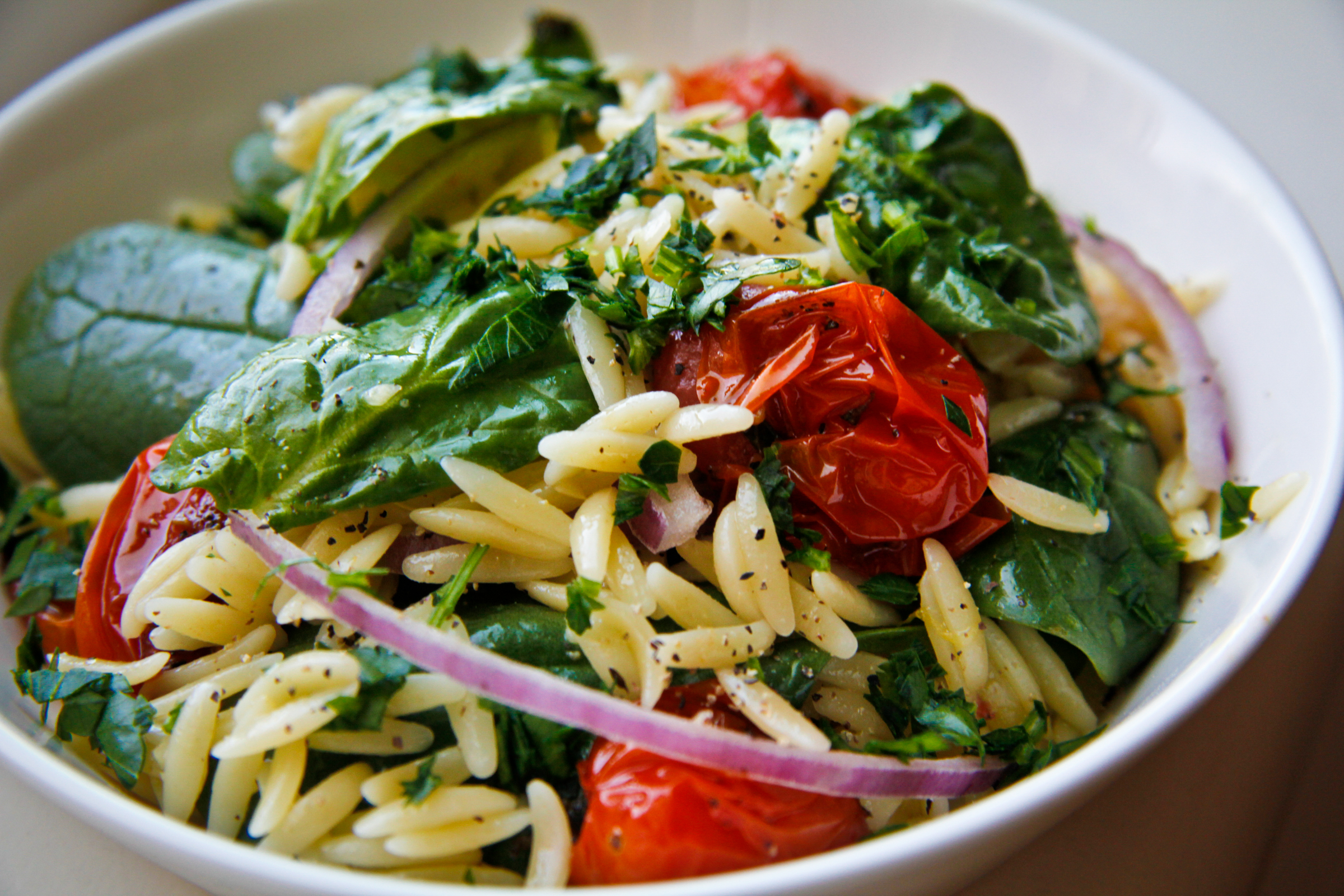 Orzo Salad with Roasted Tomatoes | Chef Julie Yoon