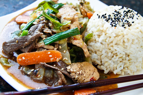 Beef and Chicken Stir Fry | ChefJulieYoon.com