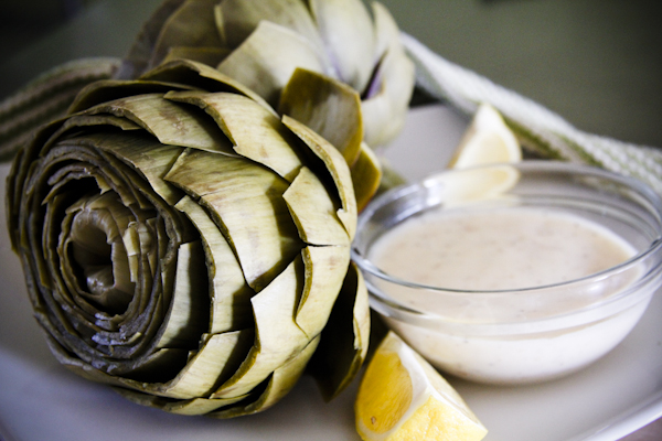 Artichokes with Lemon Beurre Blanc | ChefJulieYoon.com