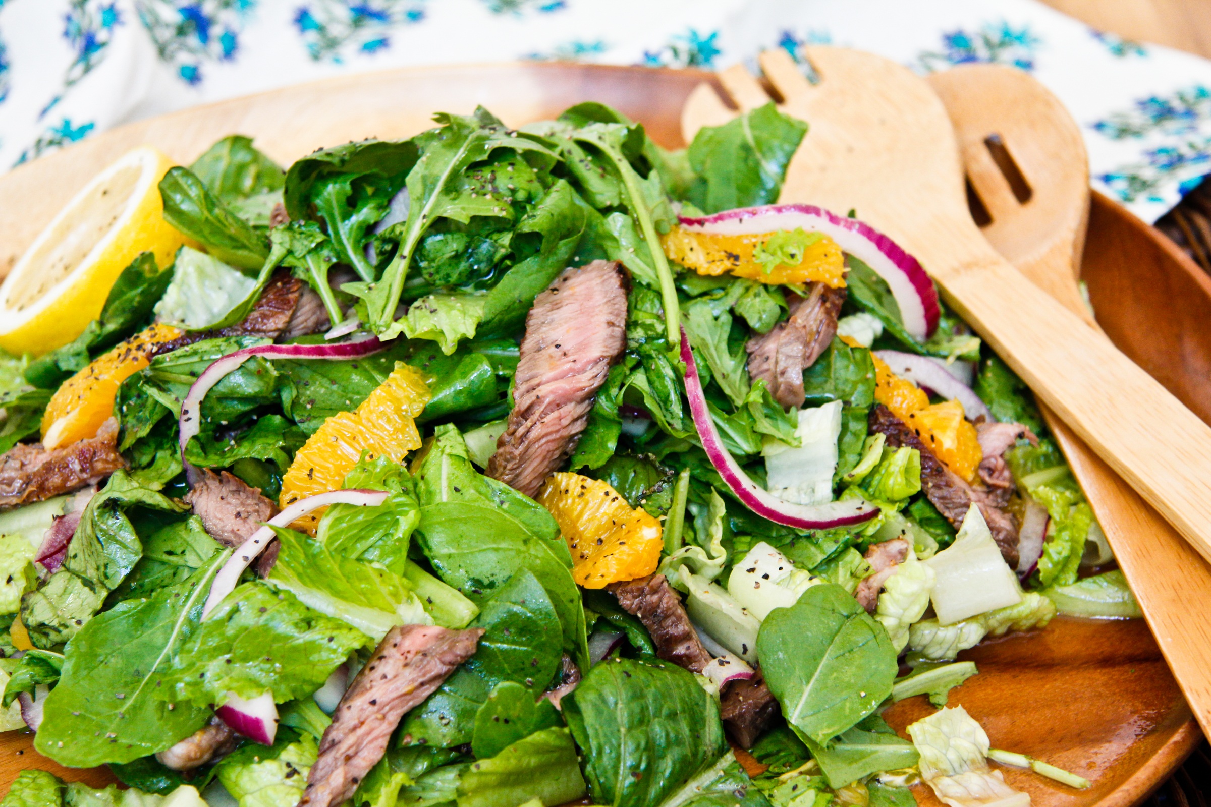 Orange and Honey Steak Salad | ChefJulieYoon.com