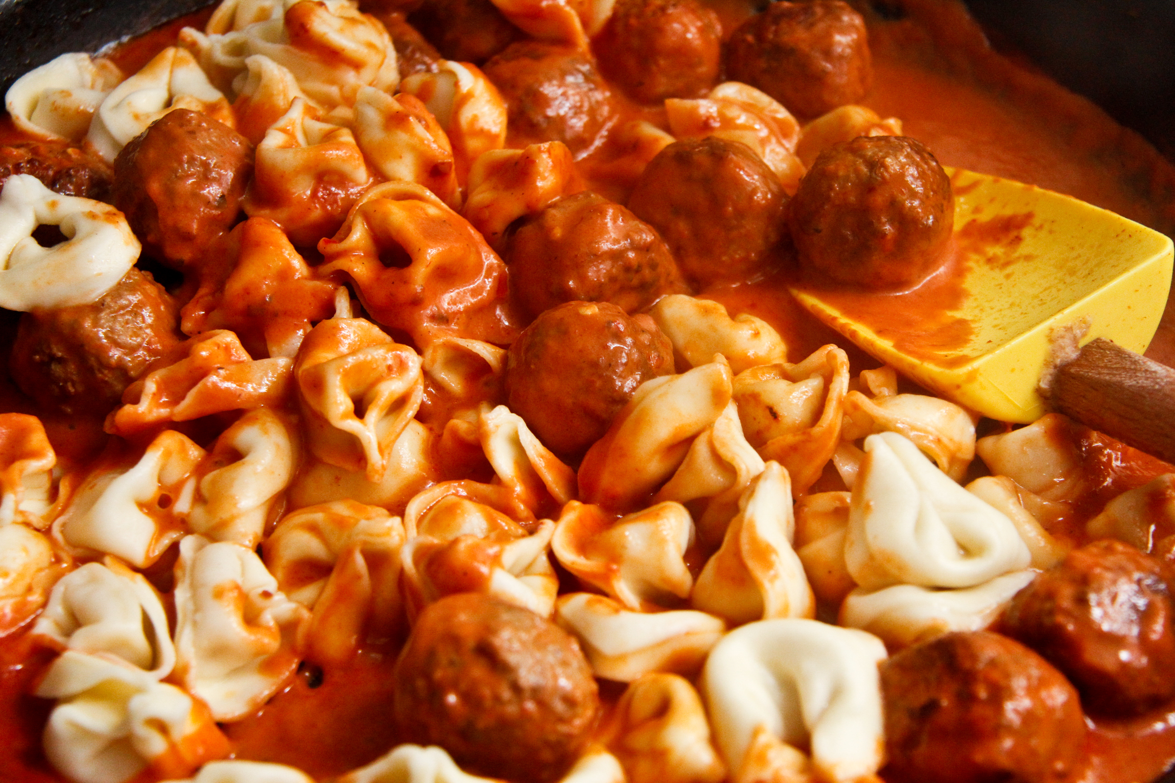 Easy Tortellini and Meatballs | ChefJulieYoon.com