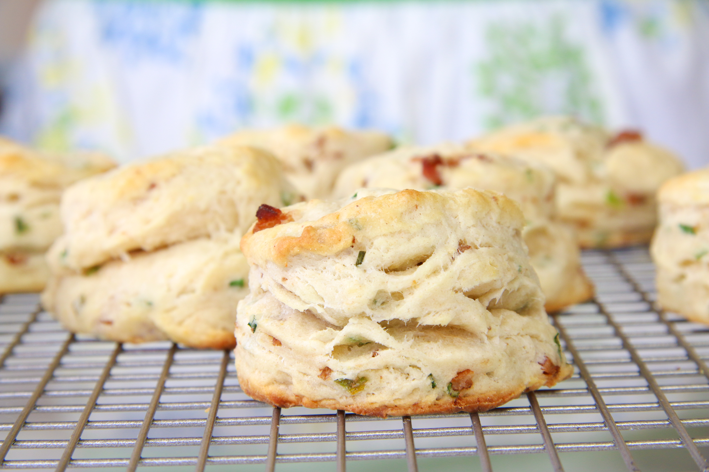 Buttermilk Bacon Biscuits | ChefJulieYoon.com