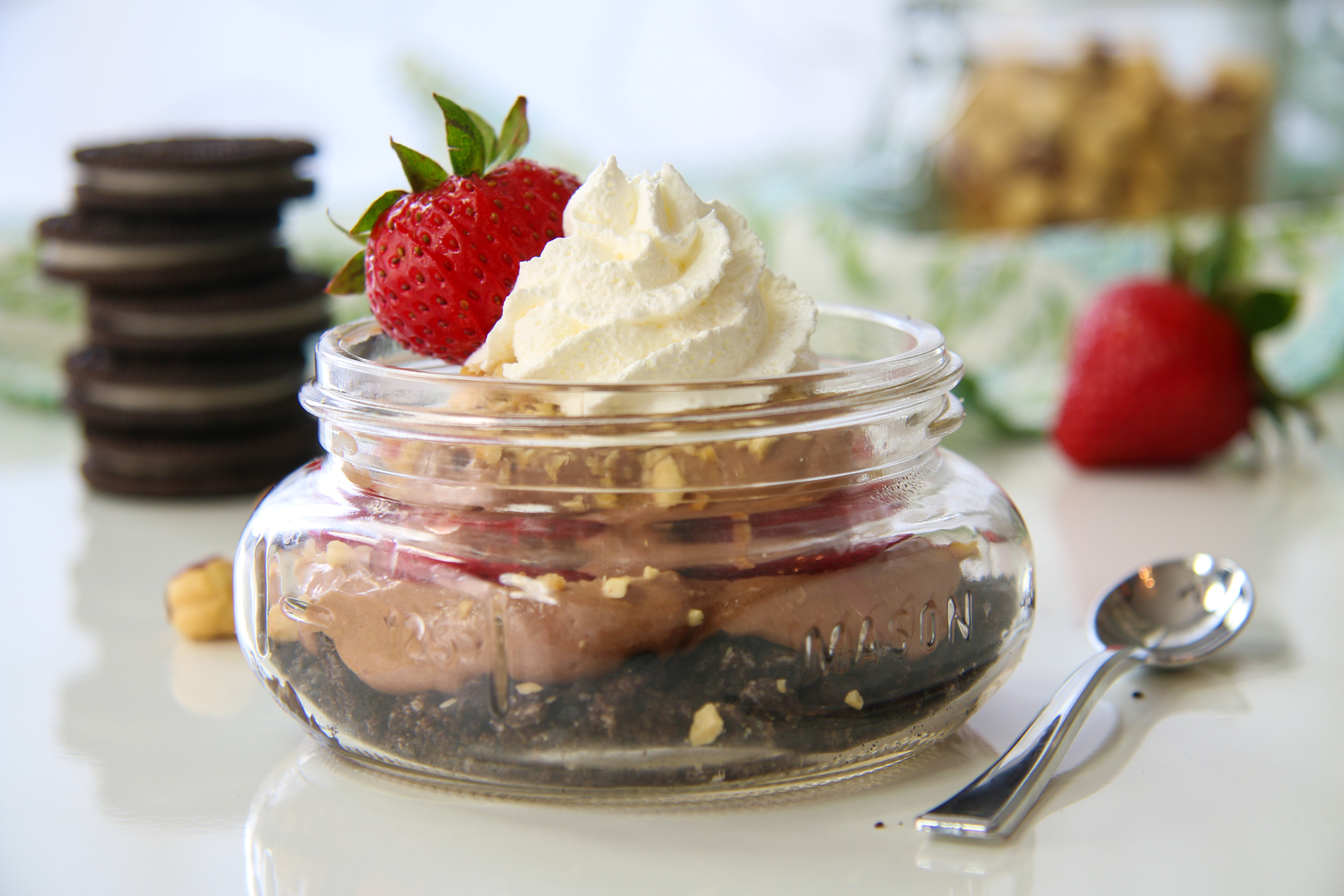 No Bake Nutella Cheesecakes with Strawberries | ChefJulieYoon.com