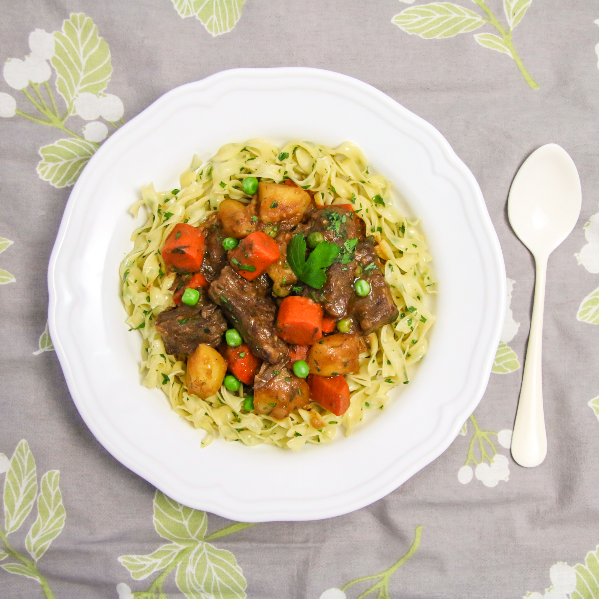 Beef Stew Buttered Noodles | ChefJulieYoon.com