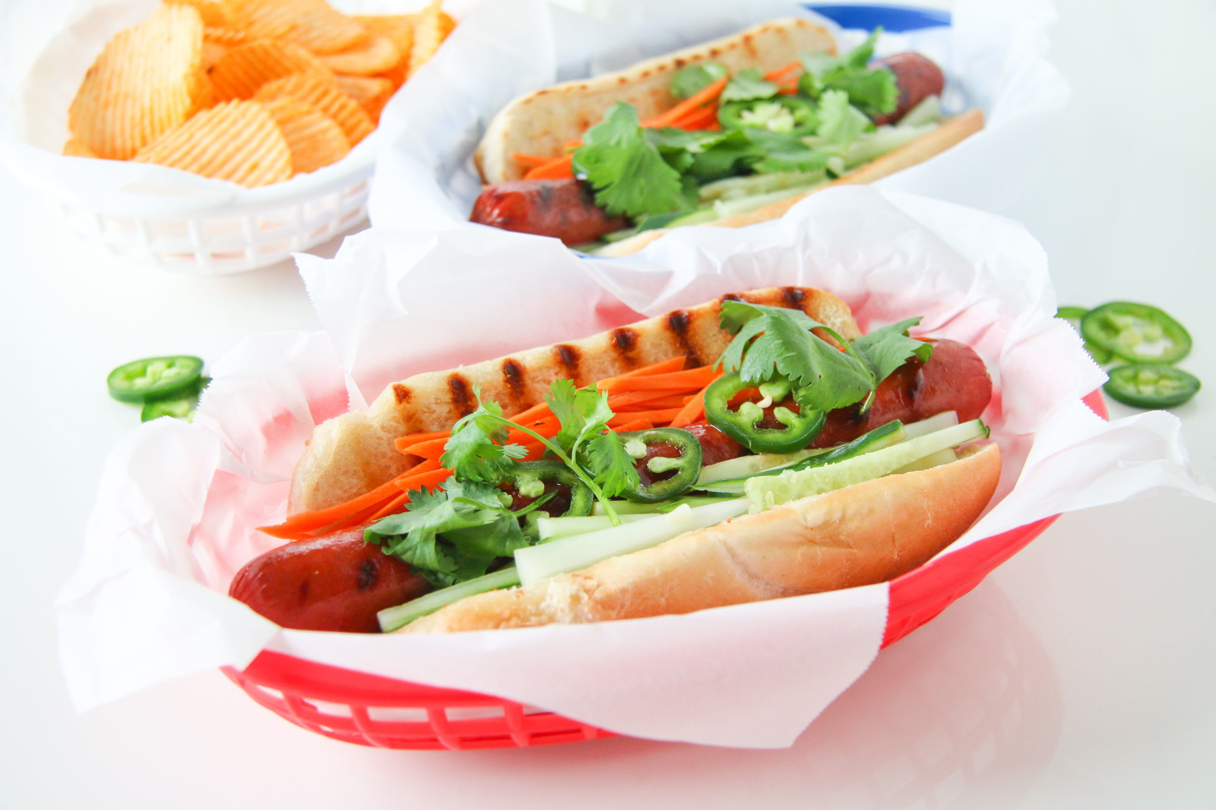 Banh Mi Hot Dogs | ChefJulieYoon.com