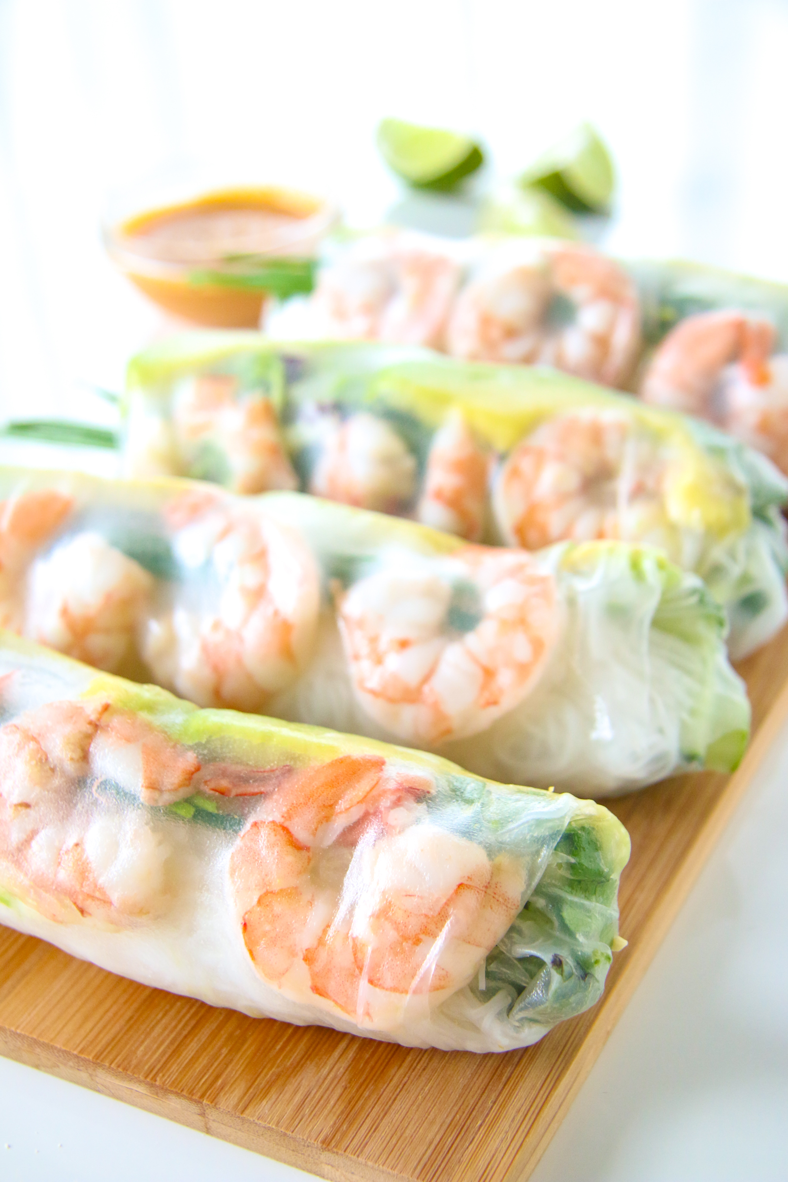 Shrimp and Avocado Summer Rolls (Fresh Spring Rolls) | Chef Julie Yoon