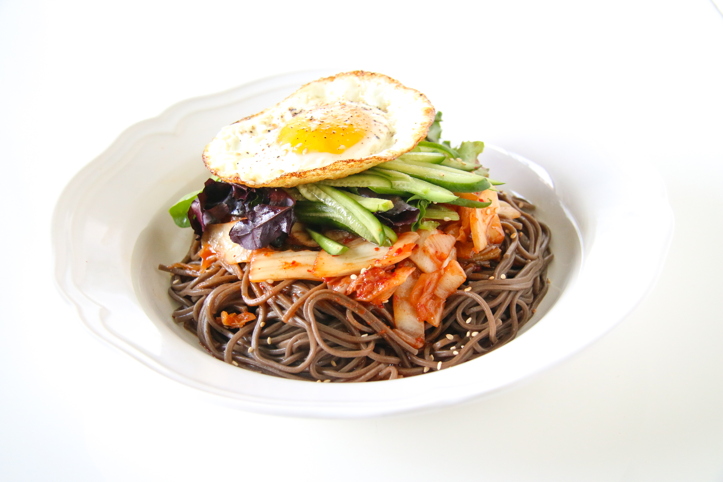 Korean Spicy Kimchi Noodles | ChefJulieYoon.com
