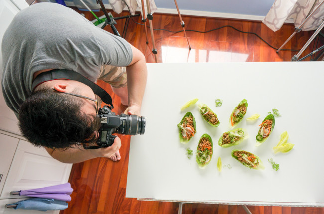 Behind The Scenes - Asian Lettuce Wraps | ChefJulieYoon.com