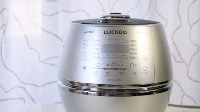 Cuckoo Rice Cooker Product Review : DHSR0609F (6cup) | ChefJulieYoon.com