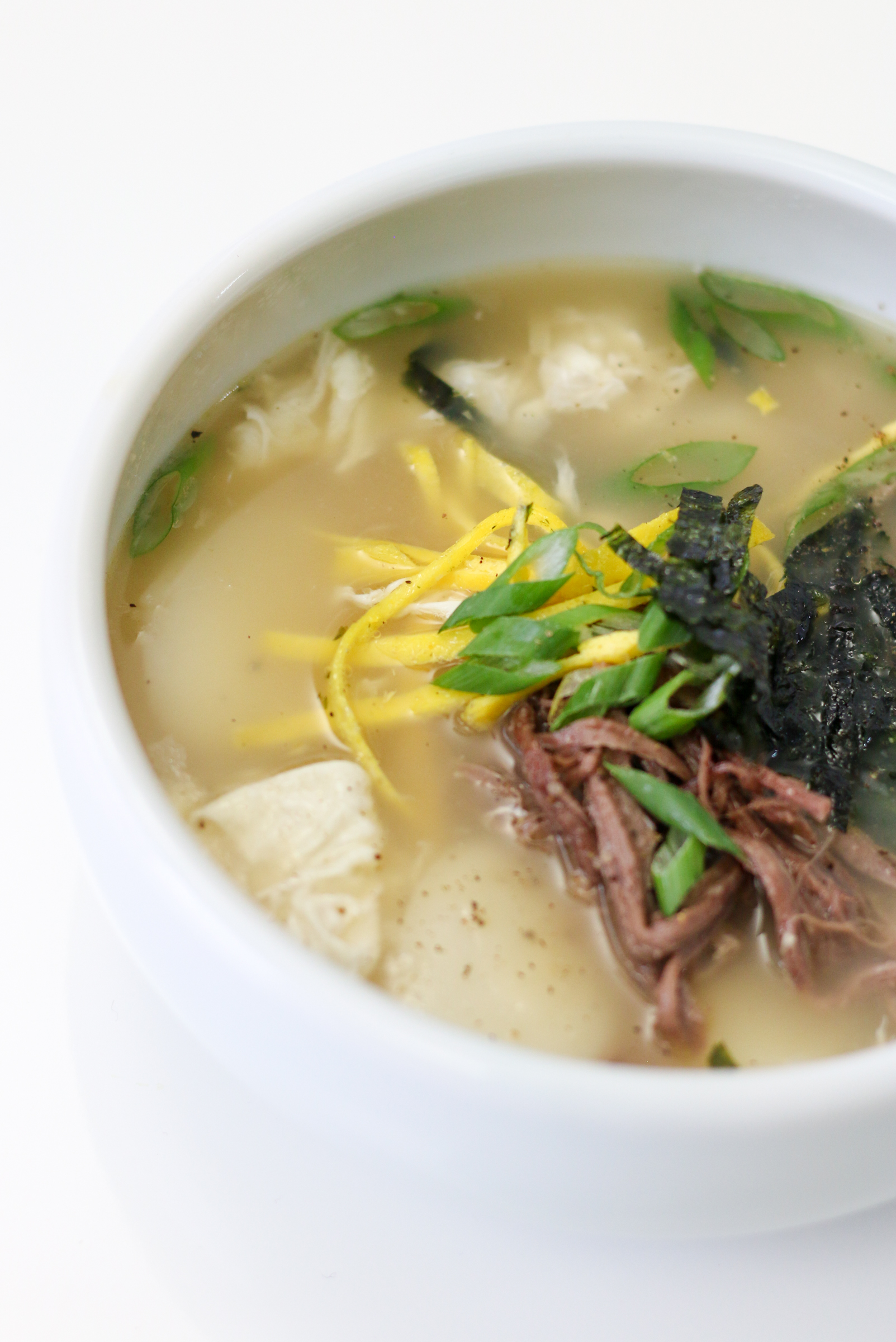 Korean rice cake dumpling soup recipe