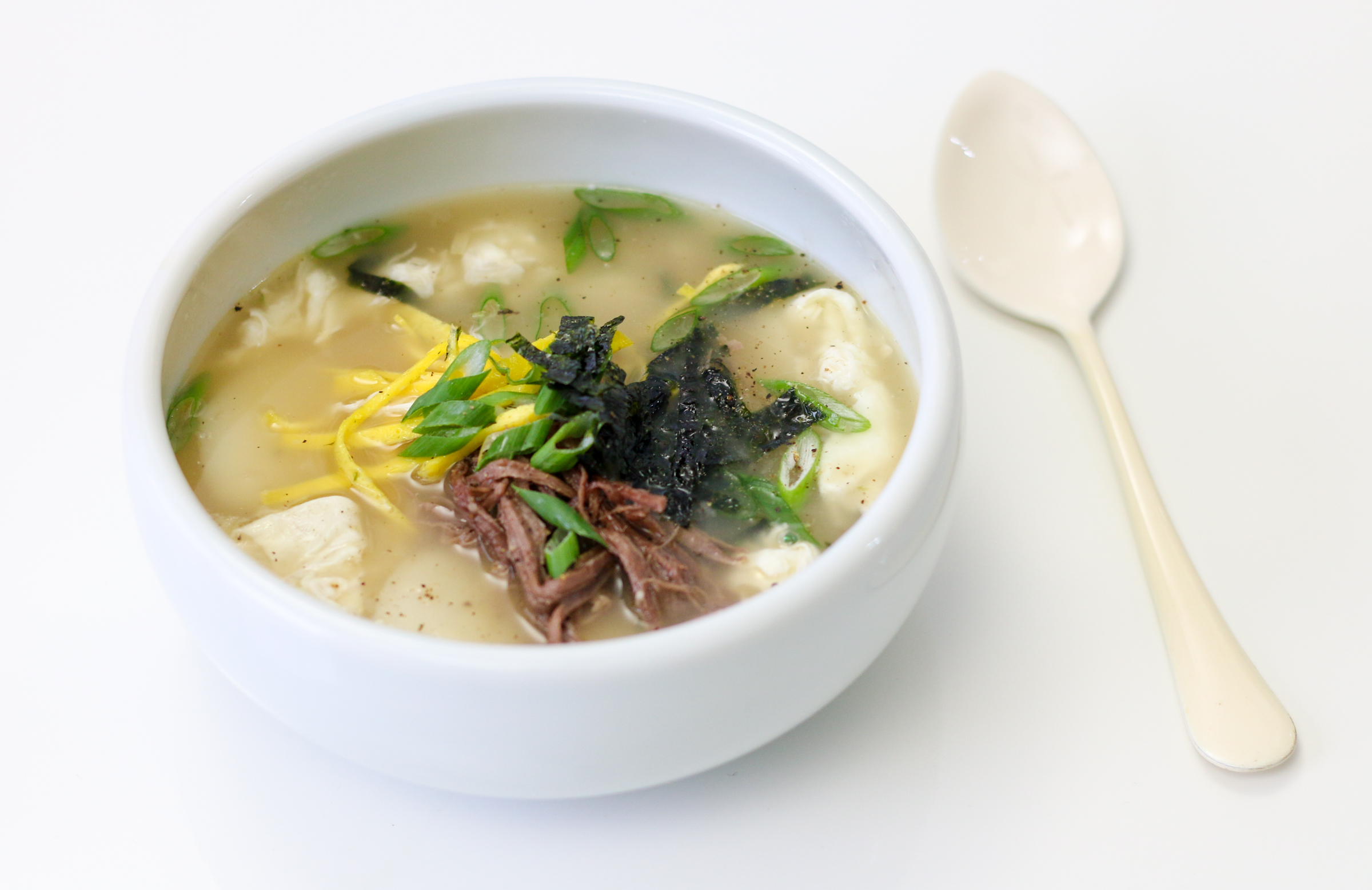 Dduk Guk (Korean Rice Cake Soup - 떡국) | ChefJulieYoon.com