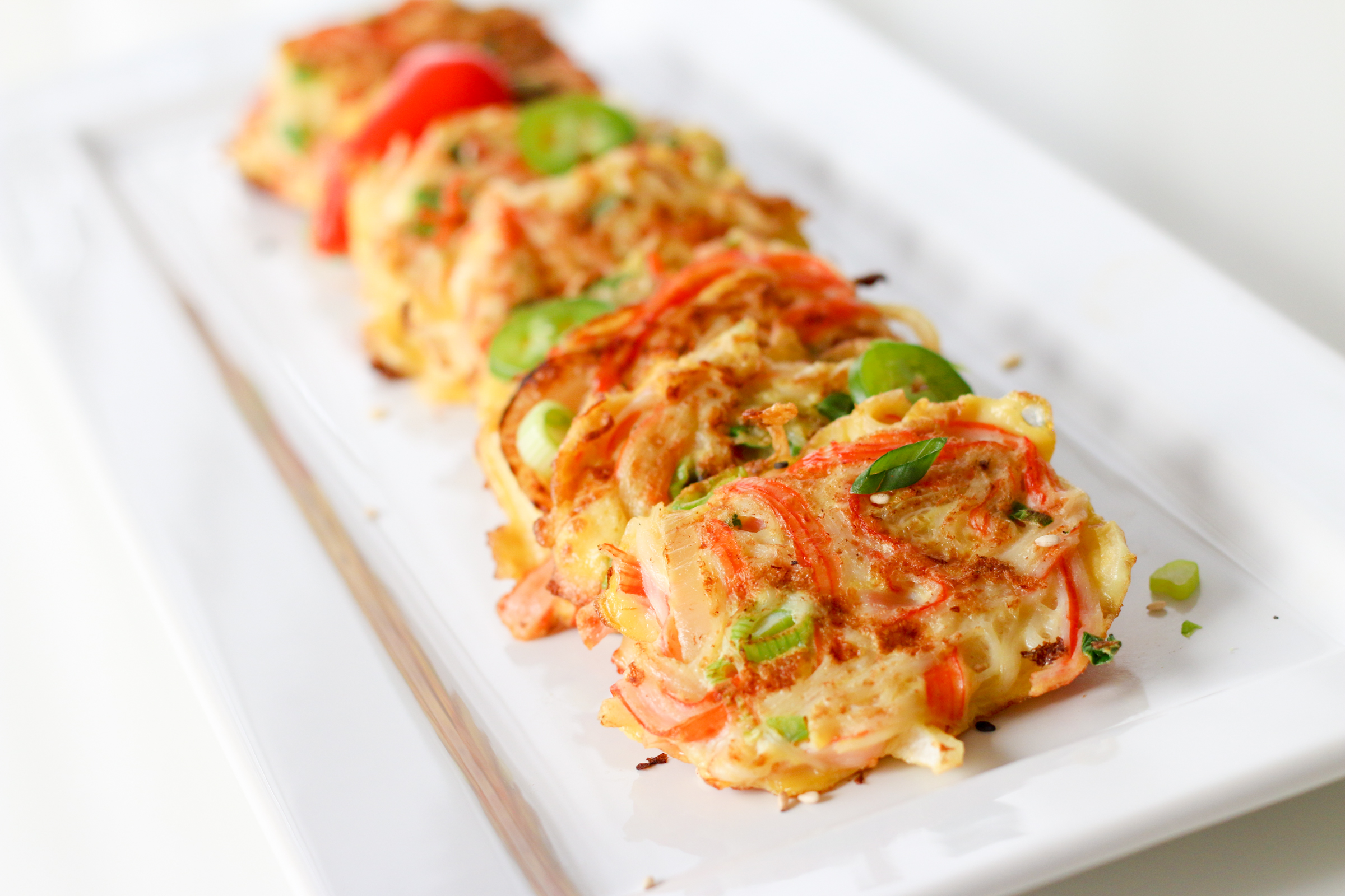 Korean Crab Jeon (Crab Stick Omelettes : 게맛살전) | ChefJulieYoon.com