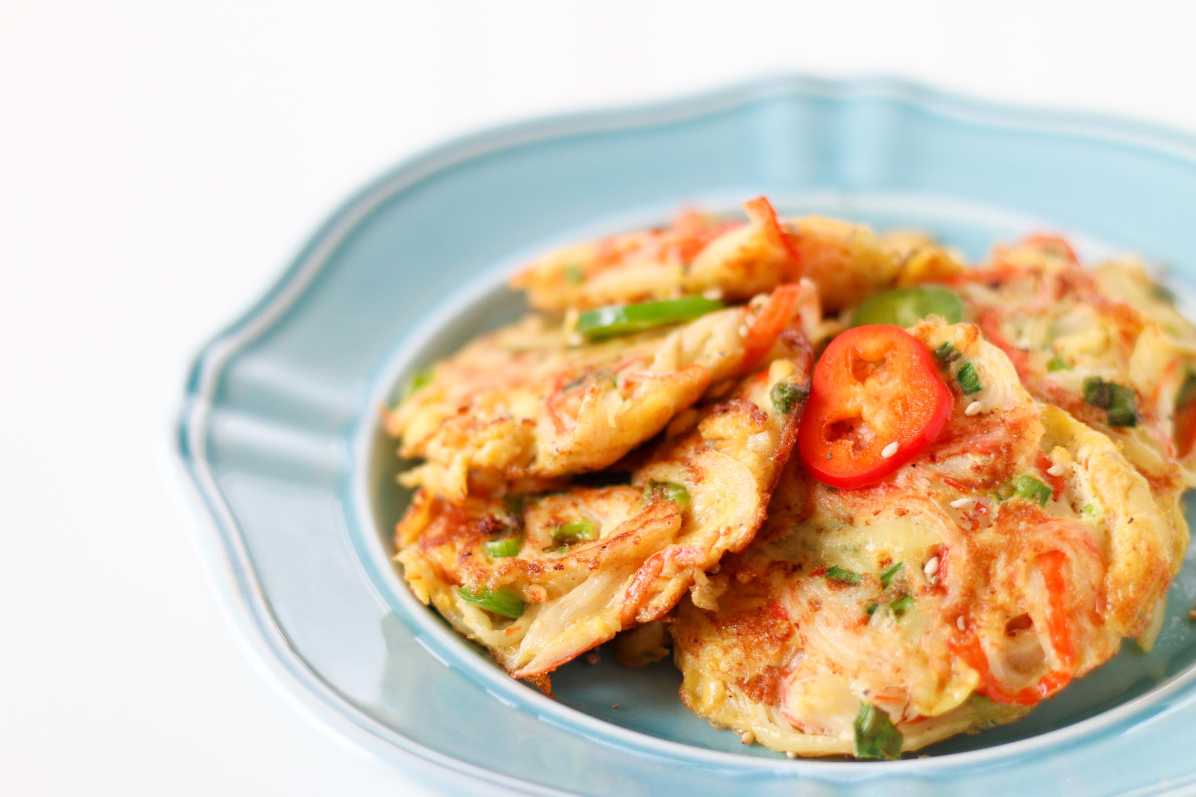 Korean Crab Jeon Crab Stick Omelettes 게맛살전 Chef Julie Yoon